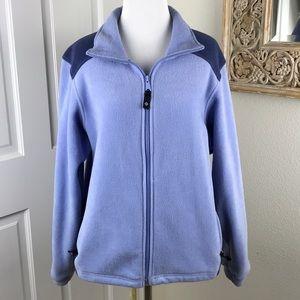 Columbia Zip Front Fleece Jacket Two Tone Color
