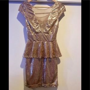 Beautiful gold/ rose gold mini dress.