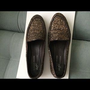 Brown sequins Donald Pliner Loafer-Size 10