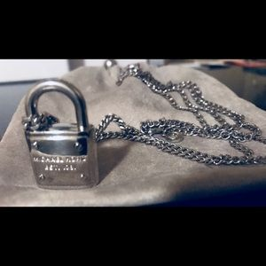Michael Kors Silver Chain Lock necklace