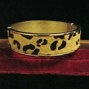 Pony hair leopard print bangle