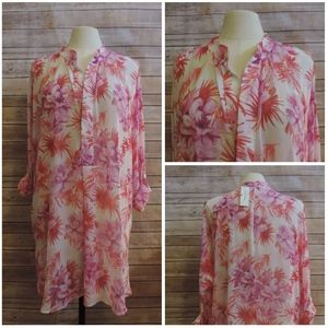 NWT TOMMY BAHAMA ~ Large Pink FLORAL Beach Cover