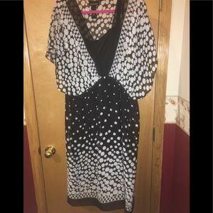 Black and White Polk a dot dress 18/20