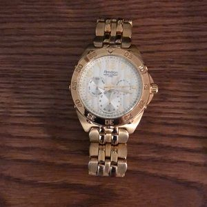 Armitron Watch- Gold . Great condition.