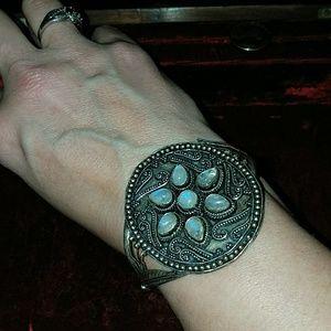 Gorgeous boho moonstone bracelet