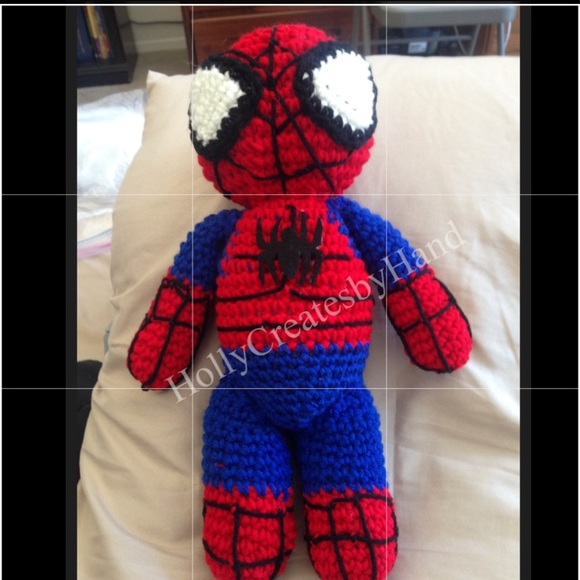 SPIDERMAN Amigurumi Pattern SuperHero Spider Marvel Easy DIY PDF ... | 580x580