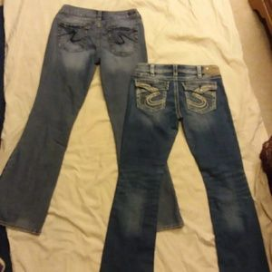 2 pair of Silver jeans 31x33 and 30x32