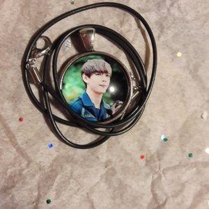 Kpop BTS V Silver Pendant Necklace