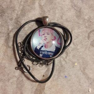 Kpop BTS Rap Mon Silver Necklace