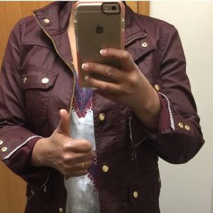 J. Crew Field Jacket Burgundy