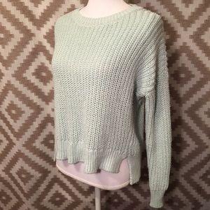 Lou & Grey Mint Blue Green Chunky Sweater!