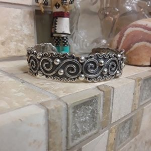 Vintage Sterling Taxco Mexico Cuff