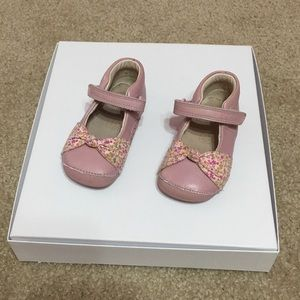 Toddler Girl Clark's Pink Floral Bow Mary Janes