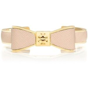 Tory Burch leather bow bangle
