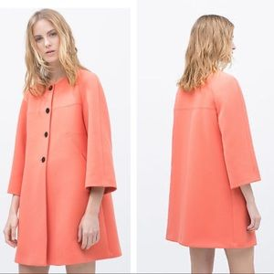 !Rare! Zara coral bell sleeve coat ! New/w tag!