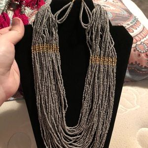 Seed Bead Necklace with Earrings
