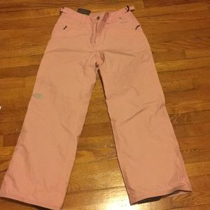 Pink snow pants