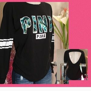 PINK long & backless Top