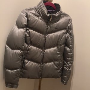 Nike Silver Down Puff Jacket