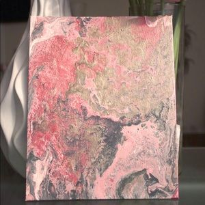 ORIGINAL Abstract Canvas Painting Rose Gold & Pink