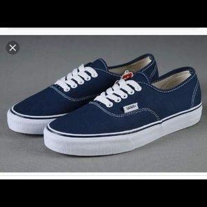Navy Vans Authentic Shoe