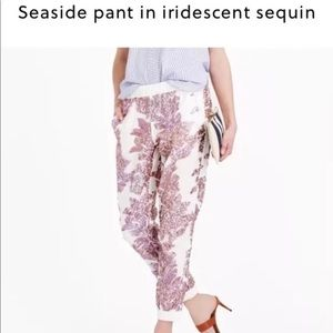 NWT J Crew Sequinned Jogger Seaside Pant Sz 12