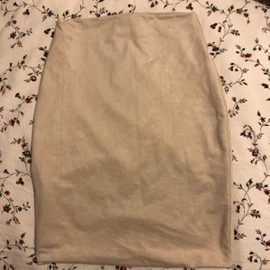 Boomboom the label nude tan skirt