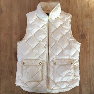J.Crew quilted Down Filled Zip Up Vest