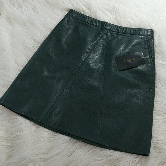 05f3b01dd4 Zara Skirts | High Waisted Faux Leather Skirt Basic | Poshmark