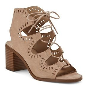 Caged Sandal with Block Heel