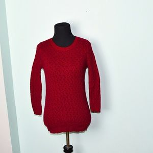 Adorable Burgundy Cable Knit Sweater