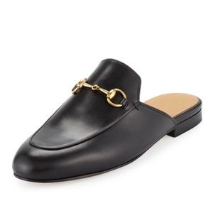 Black leather Gucci Mules NWT