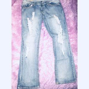Totally cute vanilla star jeans