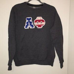 USA block letters Alpha Phi sweatshirt