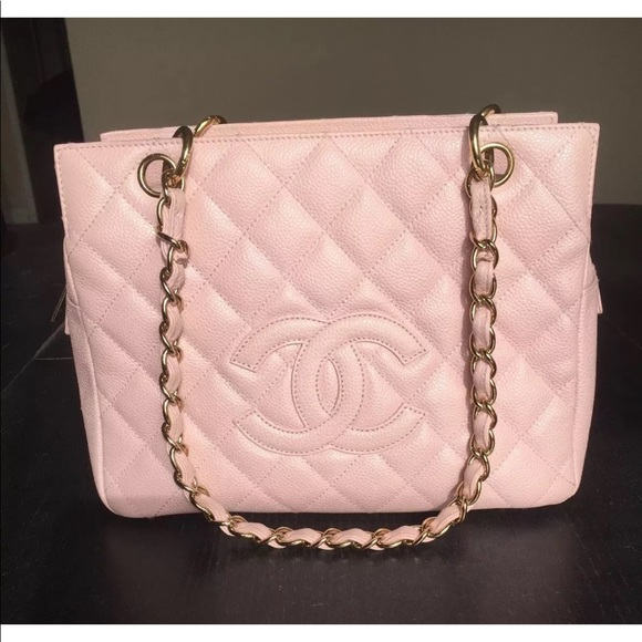 775667bcf2ed1 CHANEL Handbags - Chanel Pink Quilted Caviar Petite Timeless Tote