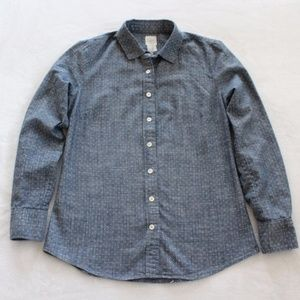 J.Crew Perfect Button Down Shirt Chambray Blue