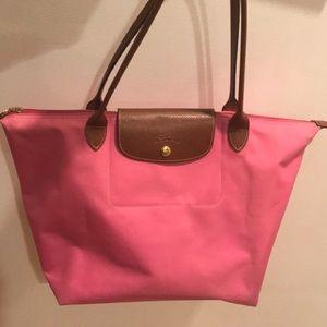 Longchamp Le Pliage Pink Tote