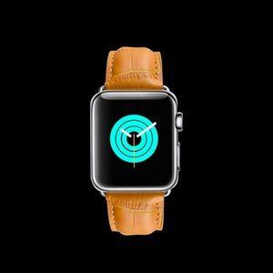 Tan Crocodile Leather 42mm Apple Watch band