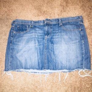 Old Navy Distressed Denim Mini Skirt, 16