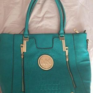 Aqua MK Tote Bag