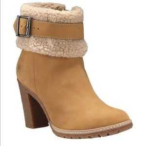 Women's Timberland Glancy Teddy Fleece Boots Wheat
