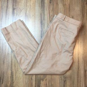 BANANA REPUBLIC wool blend khaki career pants 12S