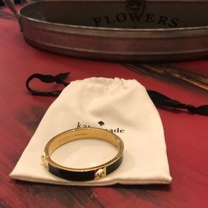 Authentic Kate Spade Black and gold Bangle
