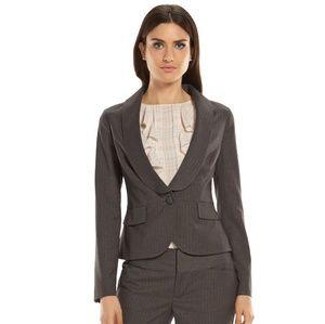 Elle Tuxedo Style Grey and Silver Blazer