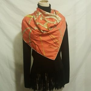 Hermes Pink Silk Scarf