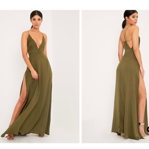 Pretty Little Things Green maxi dress