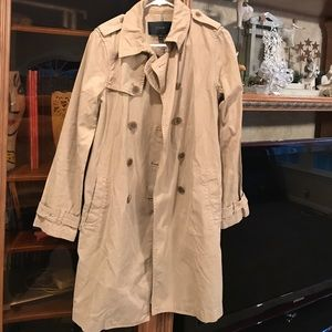 J Crew Trench Coat. Size 6
