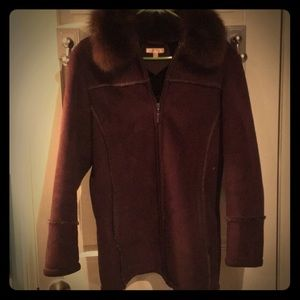 Wilson leather women's small with fur trim