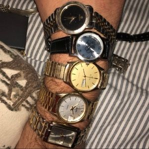 Vintage and modern men's watch lot