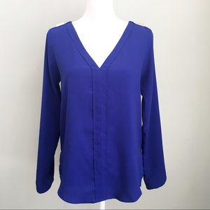Zara Basic Silk Tab Sleeve Studded Top Blouse